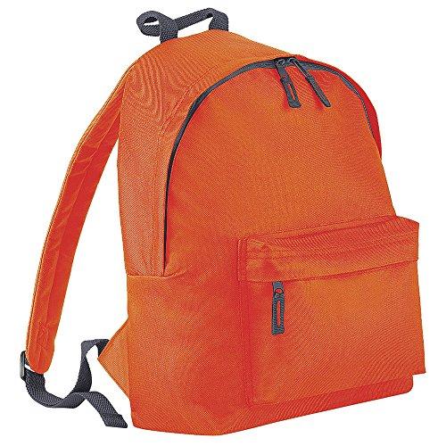BagBase - Bolso mochila  para mujer Naranja/gris grafito