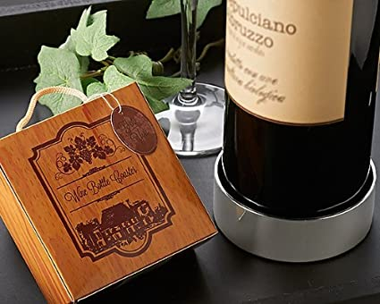 b5e574d56c35 Amazon.com: Vineyard Estate Wine Bottle Coaster - Wedding Favor and ...