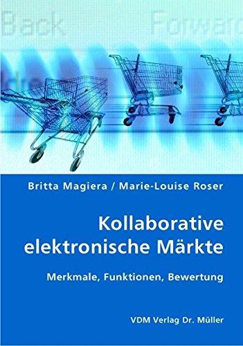 Kollaborative elektronische Märkte: Merkmale, Funktionen, Bewertung