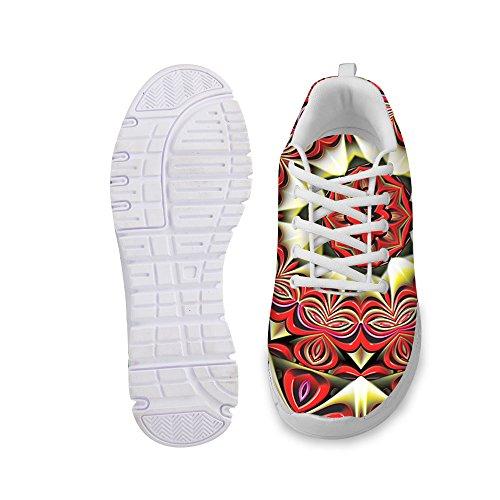 For U Design Stilige Kvinners Mote Sneaker Uformell Komfortabel Atletisk Gang Joggesko Brun
