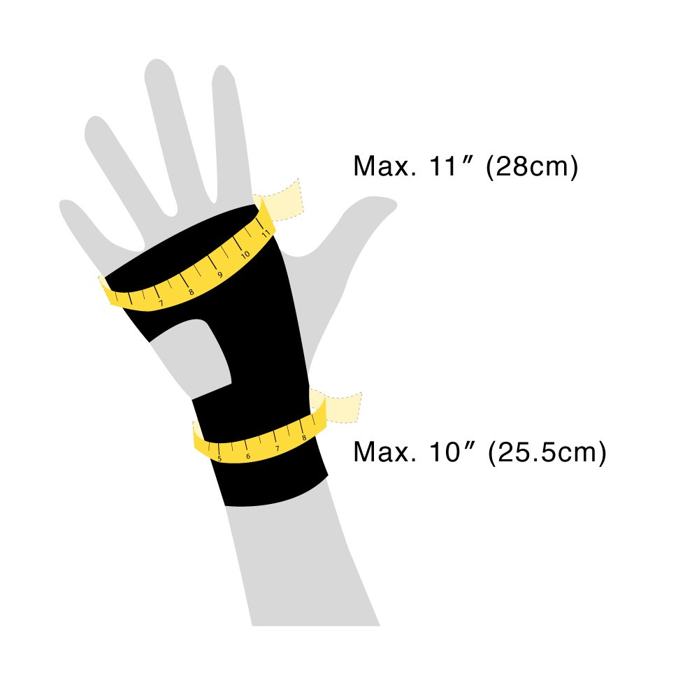Bracoo Wrist Splint, Breathable Hand Stabilizer Brace for Carpel Tunnel Syndrome, Tendonitis, and Acute Sprains, Supports All Wrist Sizes, Black, WP30, 1 Count