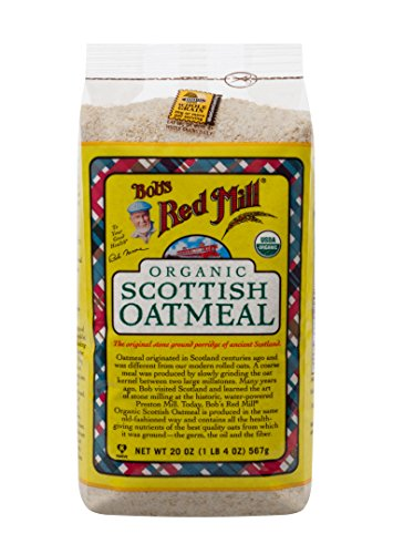 Bob's Red Mill Organic Scottish Oatmeal, 20 Ounce Bags (Pack of 4)