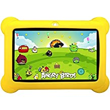 """Zeepad KIDS 7"""" 4GB Android 4.4  Quad Core Five Point Multi Touch Tablet PC, Kids Edition, Yellow"""