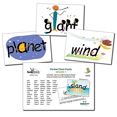 Snapwords® Nouns 1 Pocket Chart Sight Word (Picture Noun Cards)