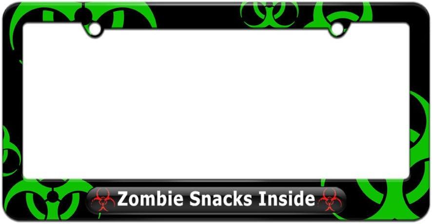ZOMBIE SNACKS INSIDE License Plate Frame