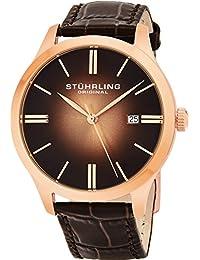 Men's 490.3345K14 Cuvette II Analog Swiss Quartz Brown Leather Watch