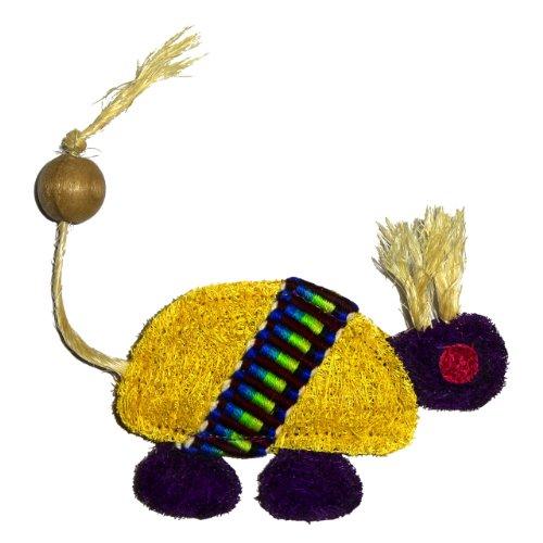 Eco-Loofah Ethnic Maka Tenuki Chief Turtle Cat Toy, Yellow, My Pet Supplies