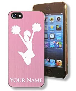 Apple Iphone 5/5S Case - Light Pink - CHEERLEADER, CHEER LEADER - Personalized for FREE (Click the CONTACT SELLER button after purchase and send a message with your engraving request) by ruishername