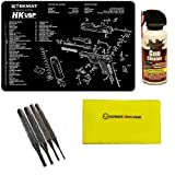 Ultimate Arms Gear Gunsmith & Armorer's Work Tool Bench Gun Mat For Heckler & Koch H&K HK USP Pistol Handgun + Gun Cleaner Spray + Cleaning Cloth + 4pc Steel Pin Punch Tool