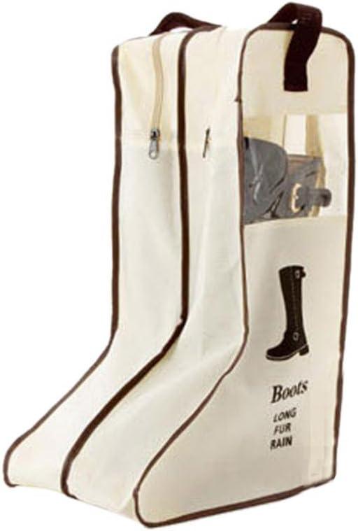 Boots Storage Bag Case Travel Shoes Cover Dustproof Protector Zipper Beige S