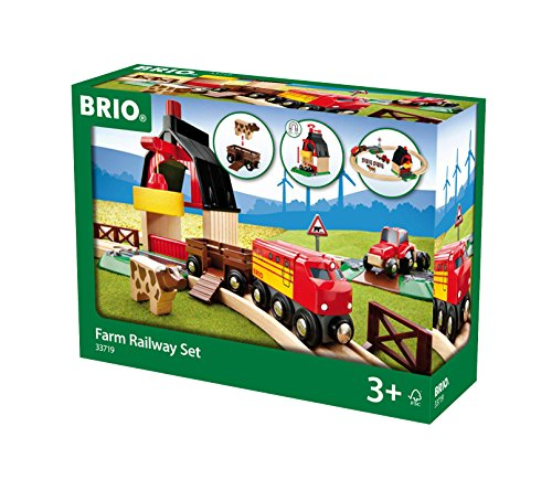 - Brio Farm Railway Set Toy Train Set for Kids - Made with European Beech Wood