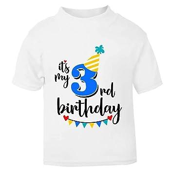 52d4ee98f It's My 3rd Third Birthday T-Shirt - Childrens Kids T Shirt Boys Cake Smash