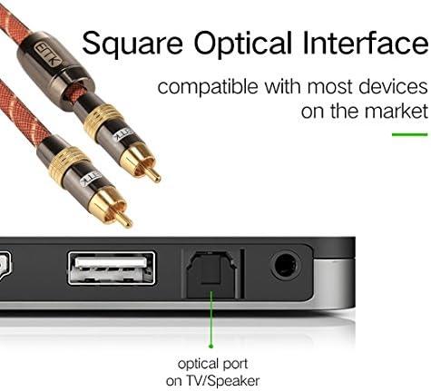 ネットワークメンテナンスツール、コンピューターアクセサリー、仕事に最適 TZ/A 3メートルOD8.0mmゴールドメッキメタルヘッドRCA RCAプラグデジタル同軸接続ケーブルオーディオ/ビデオRCAケーブル、小型、軽量で持ち運びが簡単に