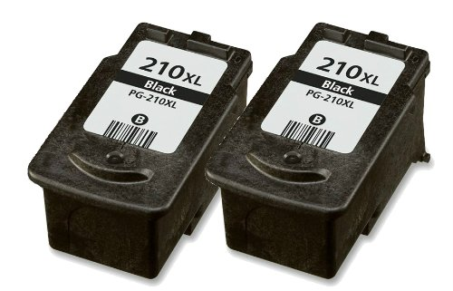 HouseOfToners Remanufactured Ink Cartridge Replacement for Canon PG-210XL (2 Black, 2 Black)