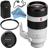 Sony FE 100-400mm f/4.5-5.6 GM OSS Lens SEL100400GM + 77mm UV Filter + Fibercloth + Lens Capkeeper Bundle
