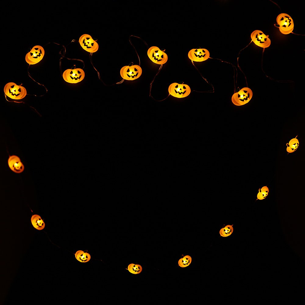 Holiday Party Decoration Christmas DROIEE String Lights,9.85ft with 40pcs Pumpkin Light for Indoor//Outdoor Halloween