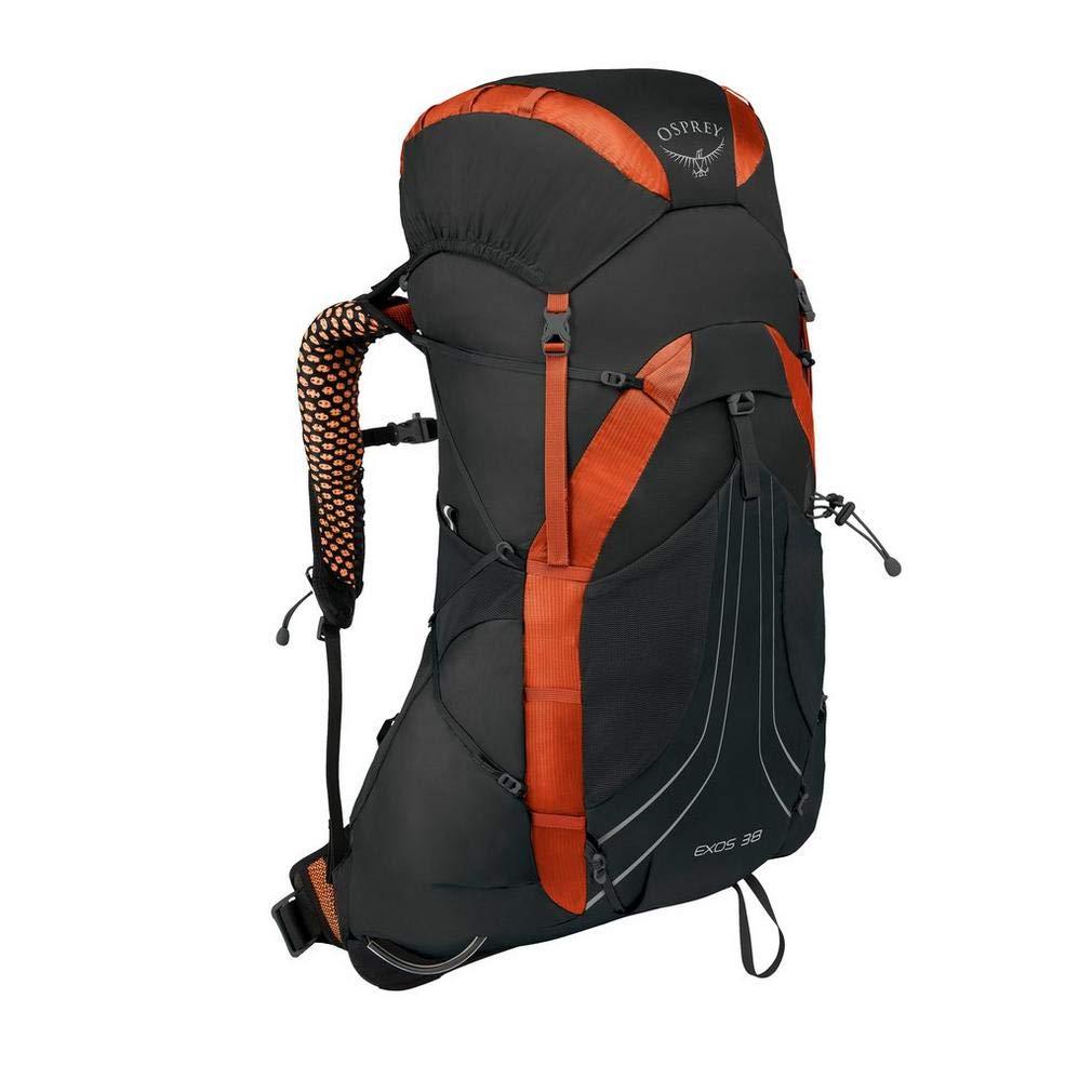 Osprey Packs Exos 38 Backpacking Pack, Blaze Black, Large