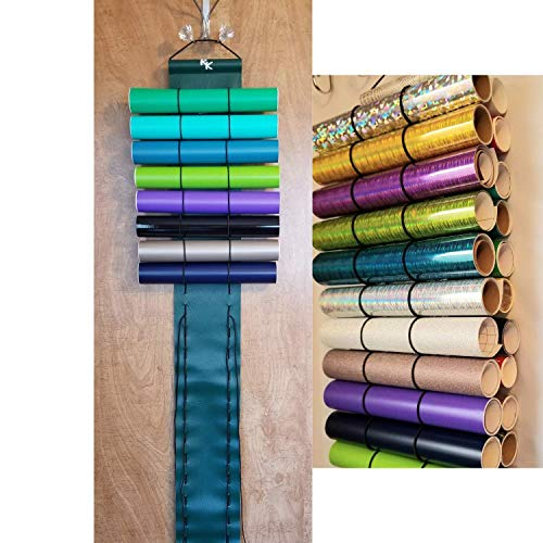 Vinyl Roll Holder, Diamond Painting, 50 Roll Capacity, 25 on Each Side, Hunter Green by The Roll Keeper from The Roll Keeper