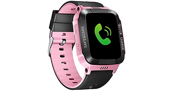 Relojes inteligentes para niños Smartwatch GPS rastreador teléfono llamada digital reloj de pulsera deportivo reloj inteligente, pantalla táctil teléfono ...