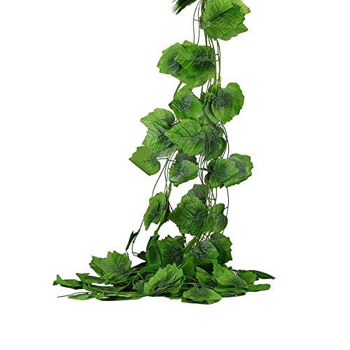 Derker 96 Feet - 12 Artificial Silk Ivy Grape Garland Vine F