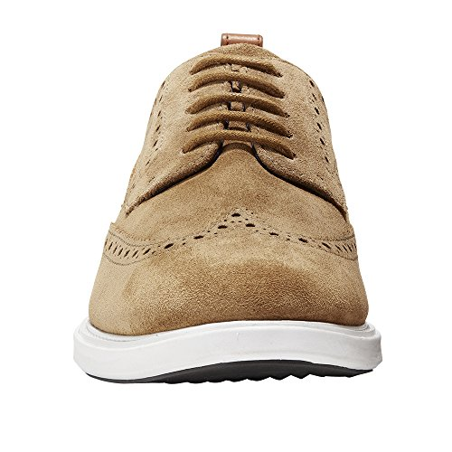 Cole Haan Heren Grand Evolutie Shortwing Oxford Bourbon Suède-optic White-dark Roast