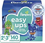 Pampers Easy Ups Training Pants Boys and Girls, Size 4, (2T-3T), 140 Count