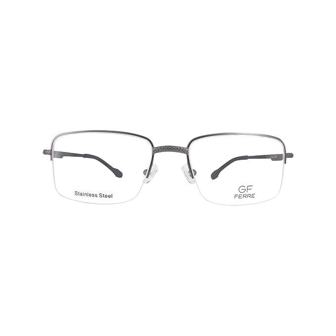 GF FERRE - Montura de gafas - para hombre multicolor GUN METAL / BROWN: Amazon.es: Ropa y accesorios