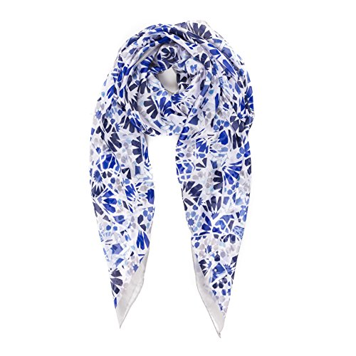 Silk Winter Neck Scarf - Scarf for Women: Lightweight Silk Feel Spring Winter Oblong Fashion Scarves Shawl by Melifluos (NF57-2)