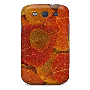 For Galaxy S3 Premium Tpu Case Cover Autumn Rainy Forest Leaves Protective Case
