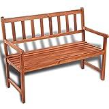 vidaXL Classic Wooden Bench Acacia Wood Outdoor Seat Chair Patio Furniture Garden Porch