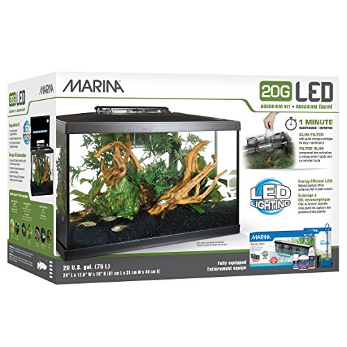 Marina led aquarium kit 20 gallon import it all for 20 gallon fish tank kit