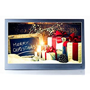 "OLDTIME 12"" Digital Photo Picture Frame Full View IPS 1920x1080 & HD Video (1080p),Advertising Machine Alarm Clock MP3 MP4 Movie Player with Remote Control- Christmas Gift Present"