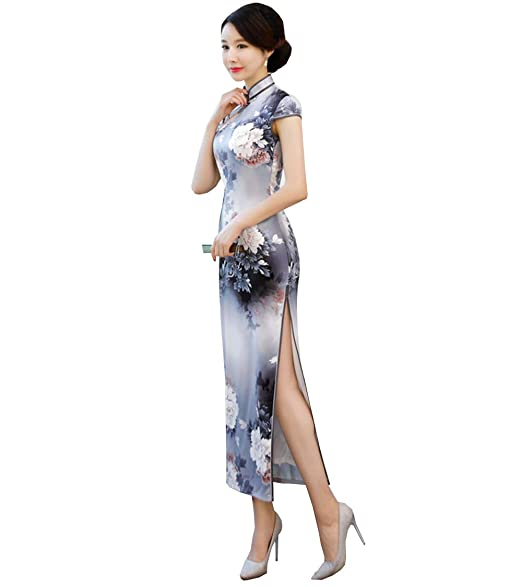 Amazon.com: SOLOVEDRESS Vestido Chino Chino Chino Cheongsam ...