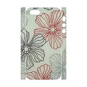 Pink Floral DIY 3D Cover Case for Iphone 5,5S,personalized phone case ygtg571620