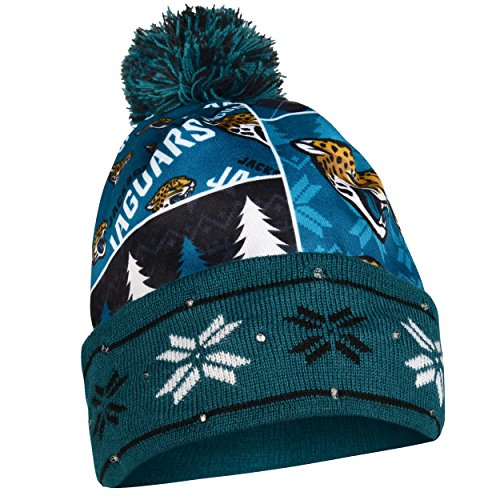 - Jacksonville Jaguars Exclusive Busy Block Printed Light Up Beanie