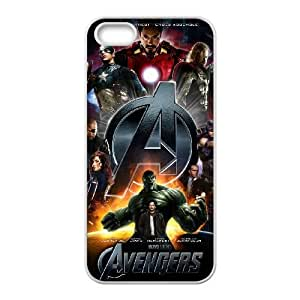 iPhone 5 5s White Cell Phone Case The Avengers Logo STY791740 Phone Case For Guys