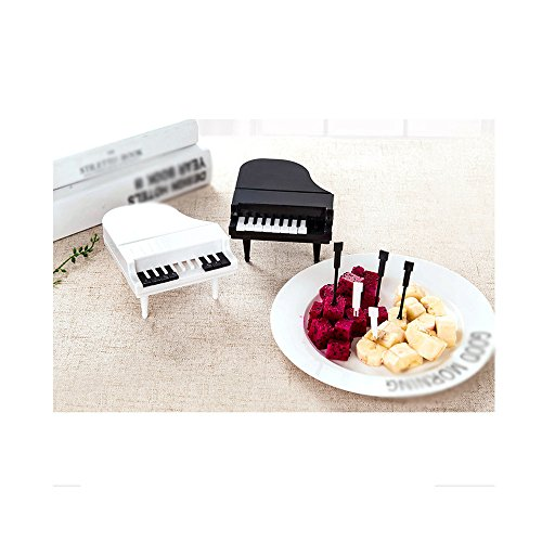 Creative Piano Modeling Piano Key Fruit Fork, Cake, Snack, Dessert, Salad, For Party, Bar, Kitchen, Tableware,Xander Portable Premium Plastic Fork (Crew Screen Print Jersey)