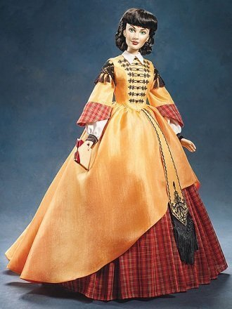 Business Woman (Scarlett O`Hara) Vinyl Portrait Doll from Gone With The Wind (Collectible Franklin Cars Mint)