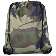 Camo Drawstring Tote Backpack | Wholesale Cinch Bags for Hunting, Hiking, Party Favors - By Mato & Hash
