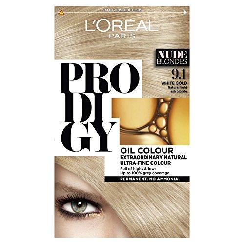 L'Oreal Prodigy 9.1 White Gold Natural Light Ash Blonde Hair Dye