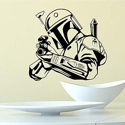 Ajcwhml Caballeros Jedi de Dibujos Animados Etiqueta de La Pared Accesorios de Decoración del Hogar Sala de Estar y Dormitorio Extraíble Pared de Pvccm 58x55cm: Amazon.es: Hogar