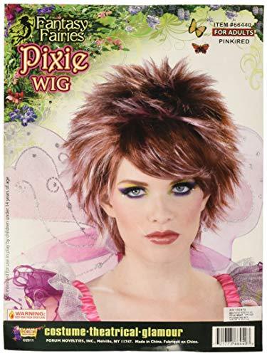 Forum Novelties Fantasy Fairies Pixie Wig, Brown,