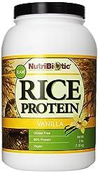 Nutribiotic Rice Protein, Vanilla, 3 Pou...