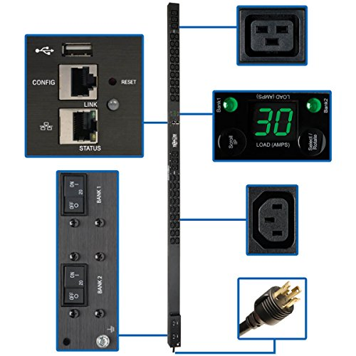 - Tripp Lite PDU Monitored 208/240V 30A 36 C13; 6 C19 Outlets L6-30P LX Interface 10 ft Cord 0URM TAA (PDUMNV30HV2LX)