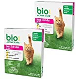 (2 Pack) BioSpot Active Care Flea and Tick Collar for Cats, 13-Inch