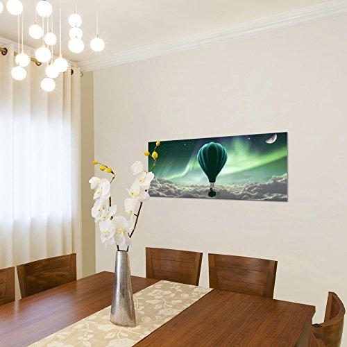 Wanddeko Leinwand aus Vlies Luftballon Nordlicht Bild Bilder Wandbild XXL