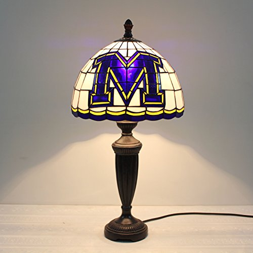 Royal- 12-inch NCAA Missouri Tigers Stained Glass Table Lamp (Desk Glass Tigers Stained)