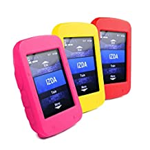 Tuff-Luv Pack Combo Grand Tour Silicone Gel Skin Case and Screen Cover for Garmin Edge 520- Yellow, Pink and Red