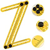Angleizer Template Tool, Kozy Life Multi-Angle Measuring Template Rule for Handymen Builders Craftsmen