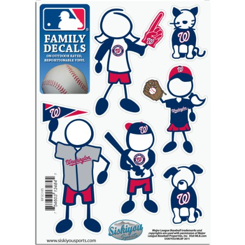 Nationals Family Decal - MLB Washington Nationals Small Family Decal Set